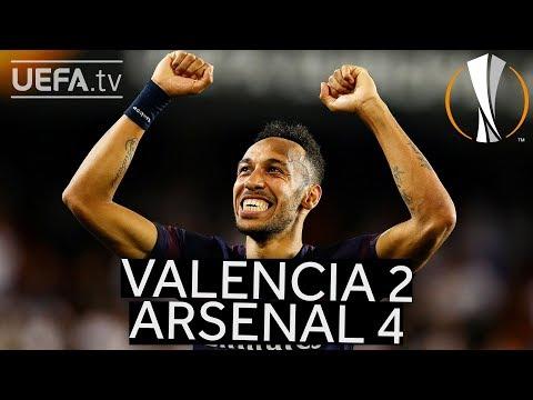 VALENCIA 2-4 ARSENAL #UEL HIGHLIGHTS