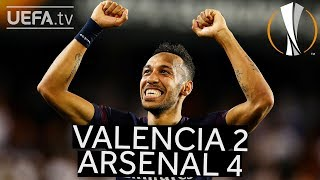 VALENCIA 2-4 ARSENAL #UEL HIGHLIGHTS