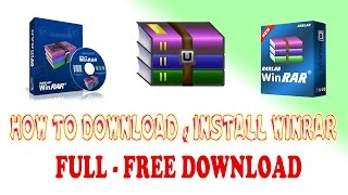 Computer Software: How to install Winrar Free - Create and decompress RAR, ZIP & Other format files