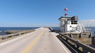 4K Drive - Columbia to Nags Head, The Outer Banks, North Carolina
