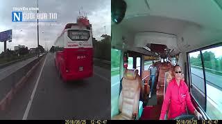 """THÓT TIM: Lái xe khách Kumho - Việt Thanh làm """" Xiếc"""", hành khách sợ tới già"""