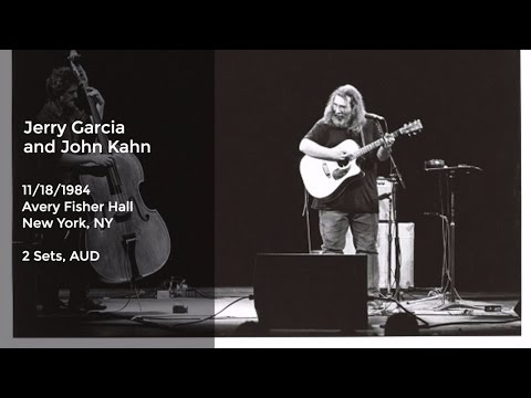 Jerry Garcia and John Kahn Live at Avery Fisher Hall, New York, NY  11/18/1984 Full Show AUD