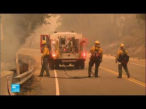 نزوح آلاف السكان مع تواصل الحرائق في كاليفورنيا  - نشر قبل 3 ساعة