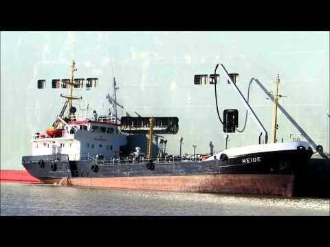 Tankschiff Heide IMO 8517542 bebunkert Bankok Highway Bunkerschiff Bunkering Tanker at work