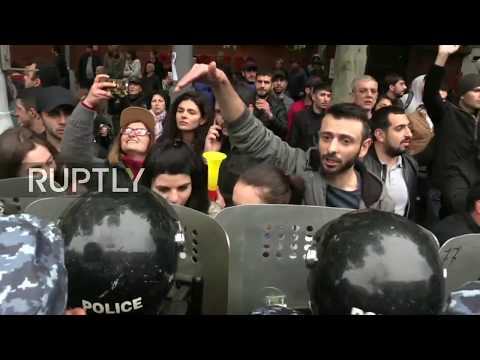 LIVE: Protesters rally against Armenian PM Sargsyan in Yerevan