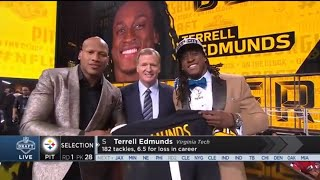 Ryan Shazier Announces the Steelers 2018 1st Rd. Draft Pick | NFL
