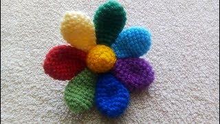 Цветочек вязаный крючком