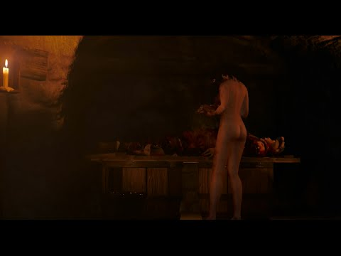 the witcher dlc blood wine bloody naked vampire girl