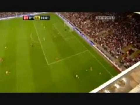 Arshavin Four Goals Vs Liverpool at Anfield