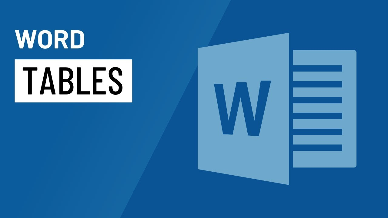 how to make a table in word 2016