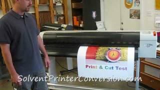 Mutoh VJ1204a Printer & Graphtec Vinyl Express Q130 Cutter