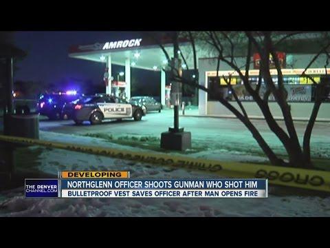 Northglenn police officer injured after suspect shot him at gas station