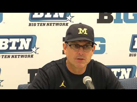 Michigan coach Jim Harbaugh on regrouping after blowout loss to Penn State
