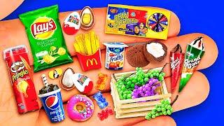 36 DIY MINIATURE FOOD 〜 BIG COLLECTION OF REALISTIC MINIATURES