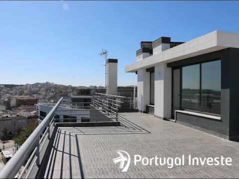 Vende Almada Fabuloso, Único e Exclusivo apartamento T3 em cobertura de 422m2, com terraço de 100m2 com vista a 360º e garagem com 87m2. - Portugal Investe - Mediação Imobiliária%1/2