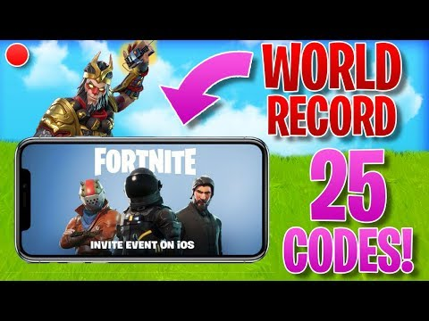 🔴 FORTNITE MOBILE #1 PLAYER // FRIEND INVITE CODES OUT NOW (GIVEAWAYS)! (Fortnite: Battle Royale)