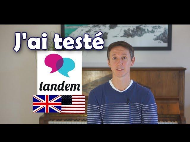 Parlez anglais avec Tandem