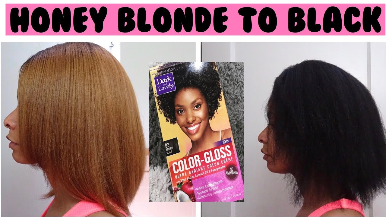 Dying My Hair From Honey Blonde To Black Dark Lovely Color Gloss