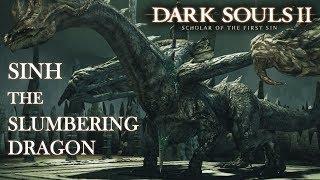 Sinh, the Slumbering Dragon Boss Fight (Tank Build) | Dark Souls 2 SOTFS