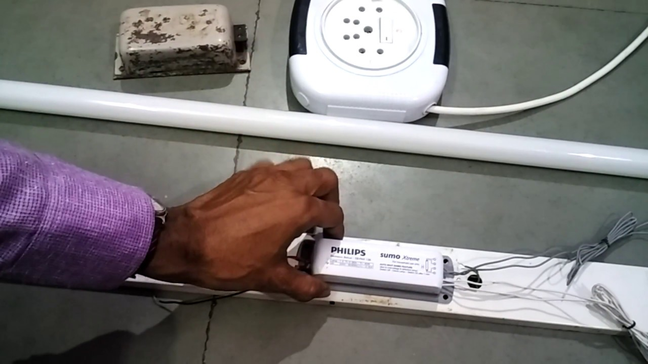 how to install electronic ballast or electronic choke wiring connection [ 1280 x 720 Pixel ]