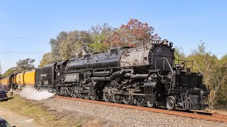 Big Boy on the Move -  UP 4014 between Overton and Marshall, TX 11/10/19 // Trinity Rail Productions