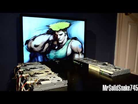 Guile's Theme on eight floppy drives