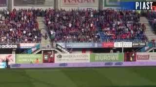 Piast - Legia (doping kibiców) - 05.10.2014 r.