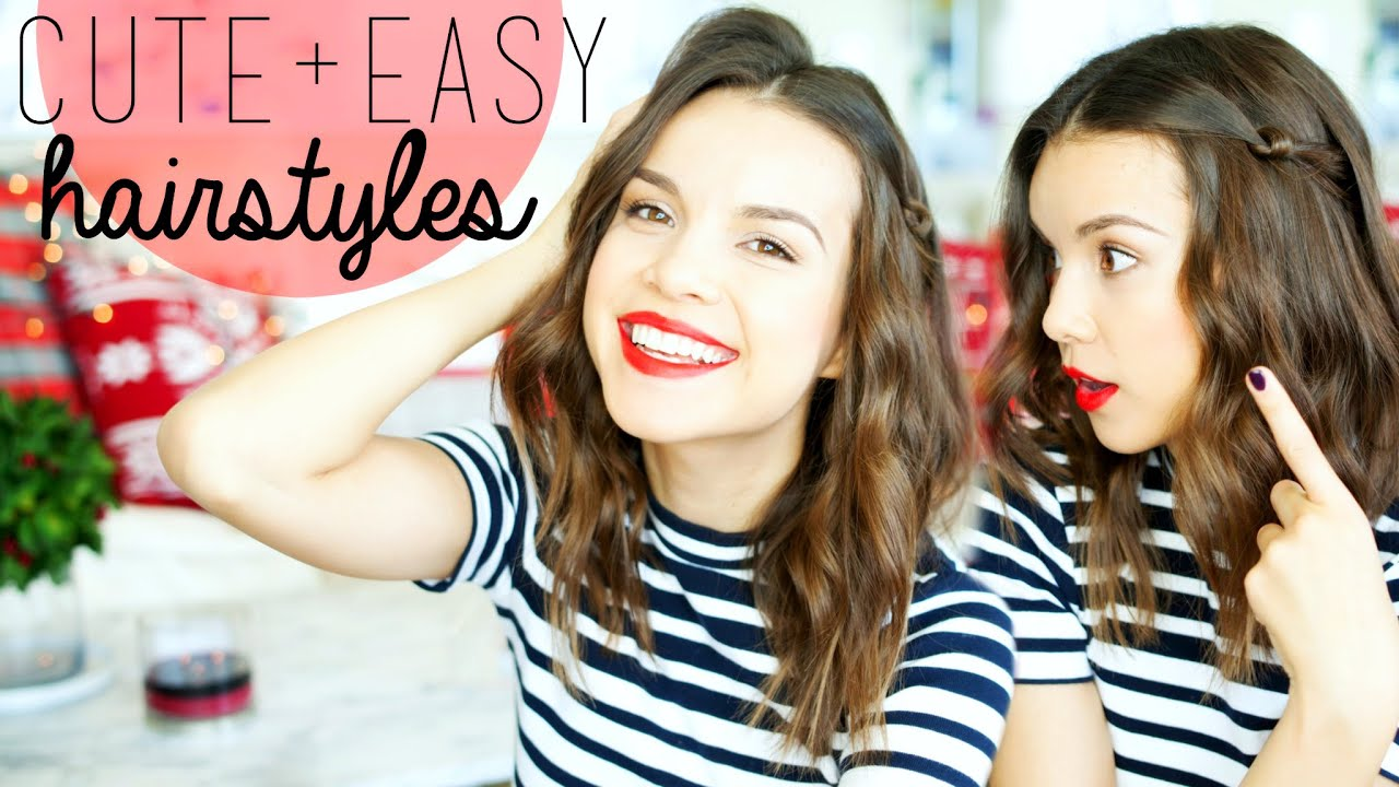 3 Cute & Easy Hairstyles For Medium Hair! YouTube