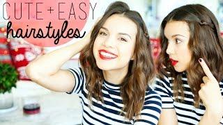3 Cute & Easy Hairstyles for Medium Hair! Thumbnail