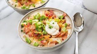 Loaded Slow Cooker Potato Soup
