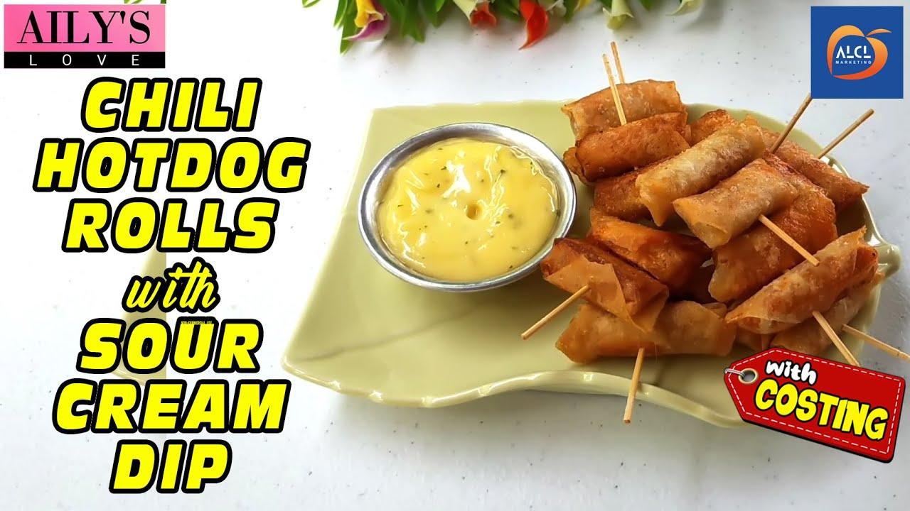 Chili Hotdog Rolls with Sour Cream Dip - Swak Sa Masa, Sarap ng Kita!