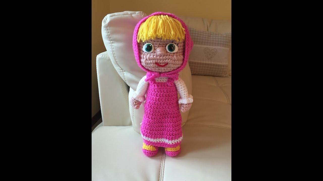 Amigurumi Tutorial Masha : Masha Amigurumi seconda parte/How to crochet Masha ...