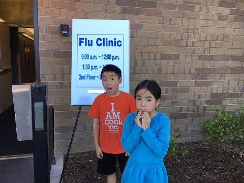 Brave kids get flu shots 2016