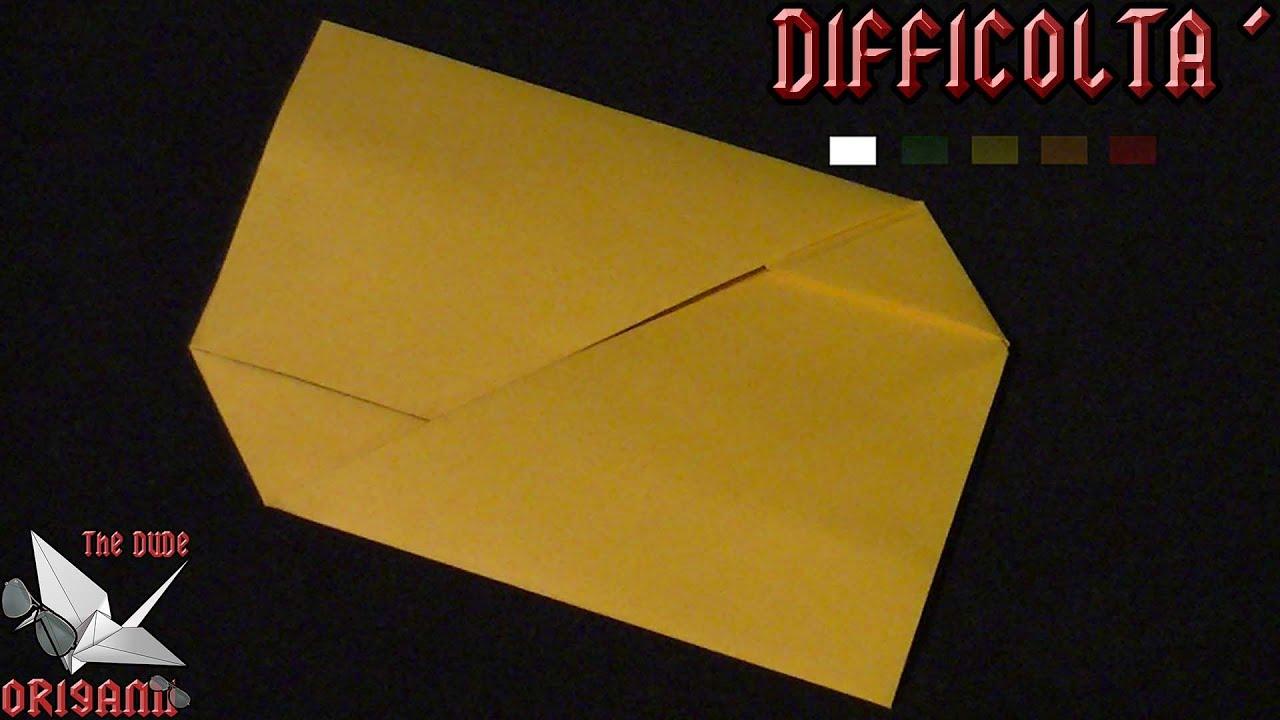 Amato ORIGAMI ITA] Busta Per Le Lettere    Origami Utili - YouTube XG07