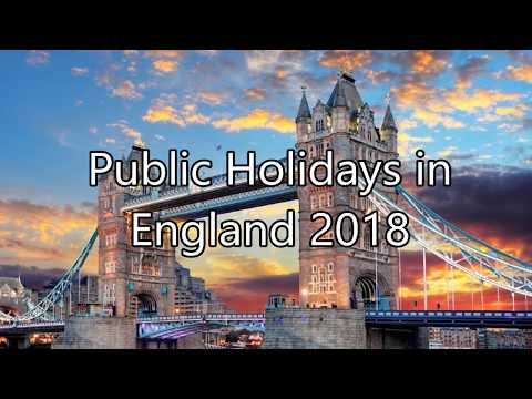 Public Holidays in England 2018