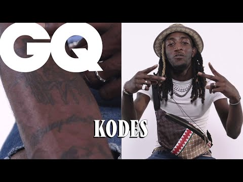 Youtube: Kodes dévoile ses tattoos : gang, dollars, label… | GQ