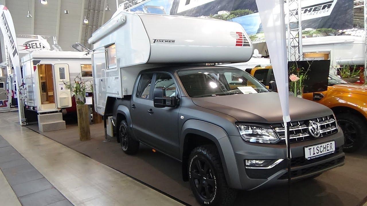 2018 tischer box 240 volkswagen amarok exterior and interior caravan show cmt stuttgart 2018