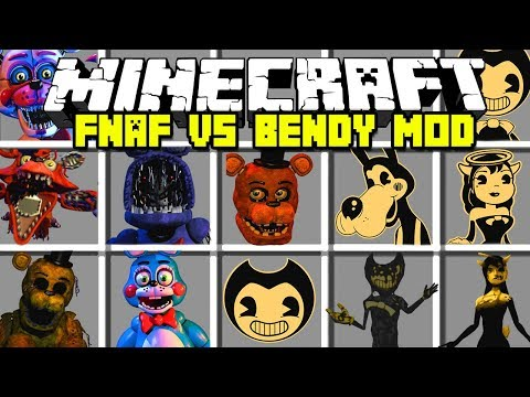 Minecraft NEW FIVE NIGHTS AT FREDDY'S VS BENDY AND THE INK MACHINE MOD!   Modded Mini-Game