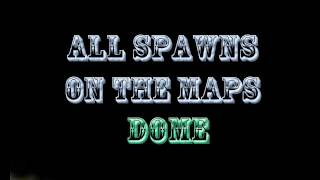 MW3 - All spawns of the map Dome FFA/ Wszystkie spawny na mapce Dome