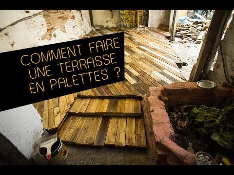 comment faire une terrasse de jardin en palettes diy youtube. Black Bedroom Furniture Sets. Home Design Ideas