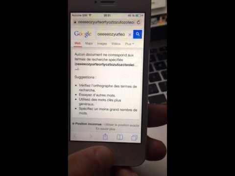 Iphone 5 Ios 7 1 1 Possede Par Un Bug Tactile Youtube