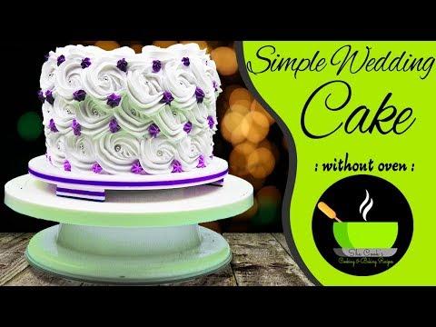 simple-wedding-cake-recipe-in-pressure-cooker-|-easy-homemade-wedding-cake-|-chocolate-wedding-cake