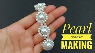 How To Make// Pearl Bracelet//At Home// Useful & Easy