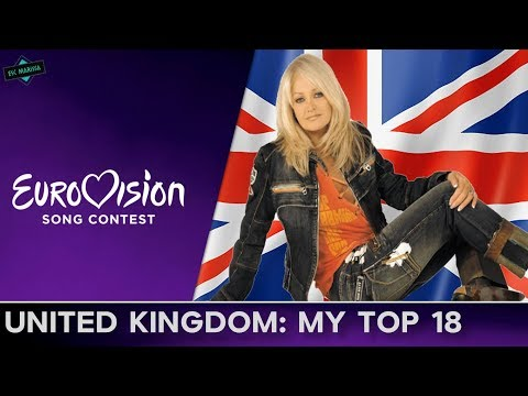United Kingdom In Eurovision: MY TOP 18 (2000-2017)