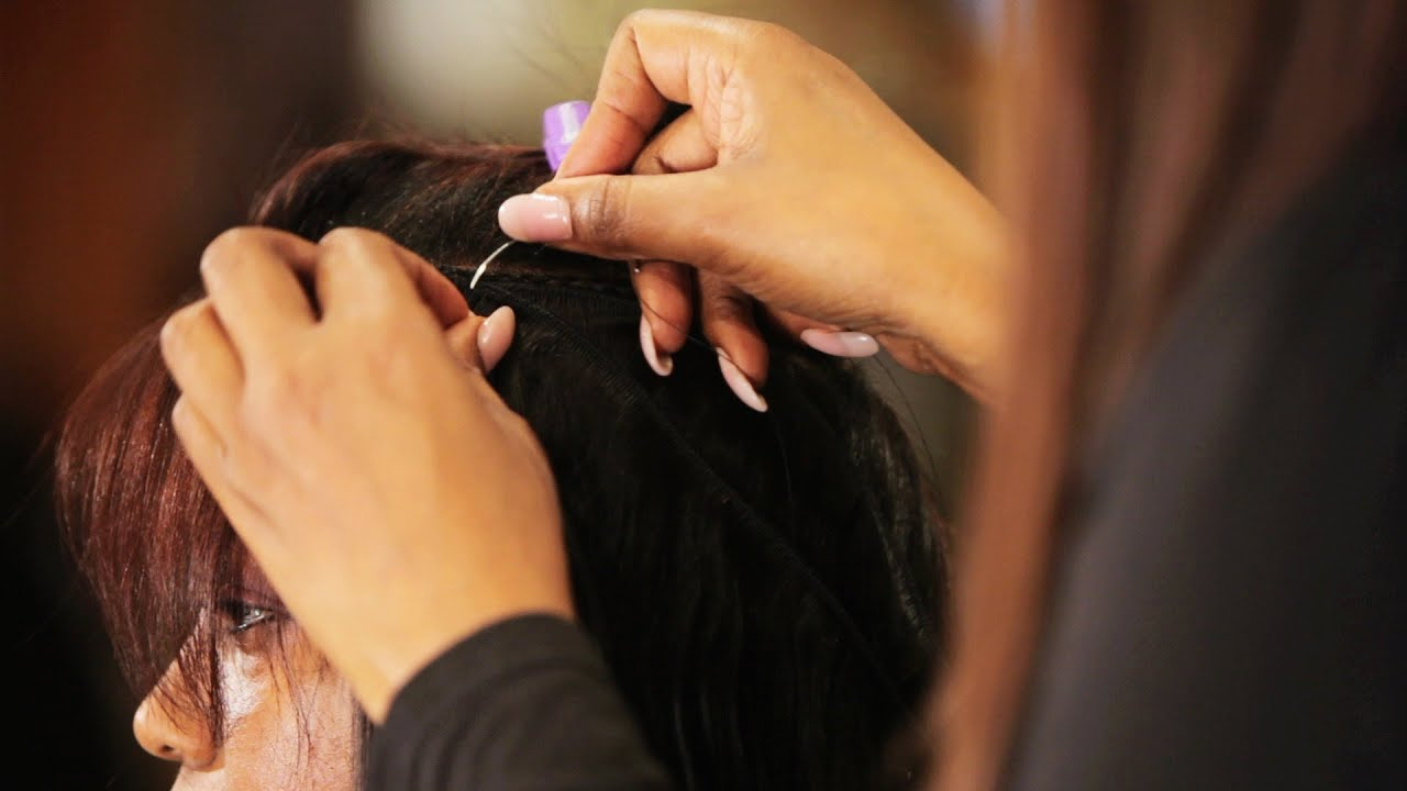 How To Apply Hair Tracks For A Weave