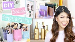 DIY Beauty Organization Ideas!! (SM Department Store, Ace Hardware Philippines) | Janina Vela