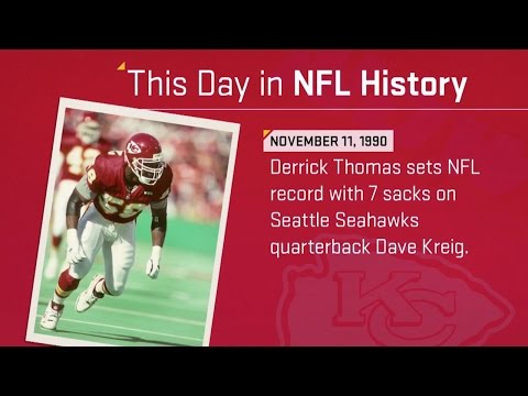 Derrick Thomas Sets NFL Record With 7 Sacks in 1 Game | This Day in NFL History (11/11/90)
