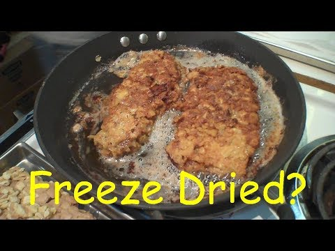 Will It Freeze Dry? - CHICKEN FRIED STEAK - In A Harvest Right Home Freeze Dryer.