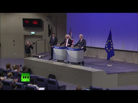 Davis & Barnier hold press conference on #Brexit talks FULL