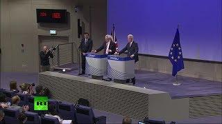 Davis & Barnier hold press conference on #Brexit talks FULL